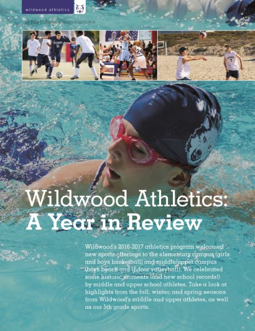 Our Wildwood, Summer 2017, Volume 41, Wildwood Athletics